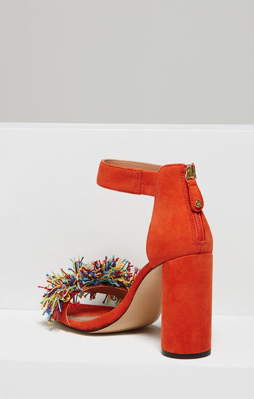 Misha Pom-Pom Ankle Strap Sandal