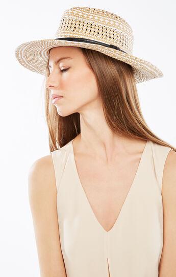 Geometric Woven Panama Hat