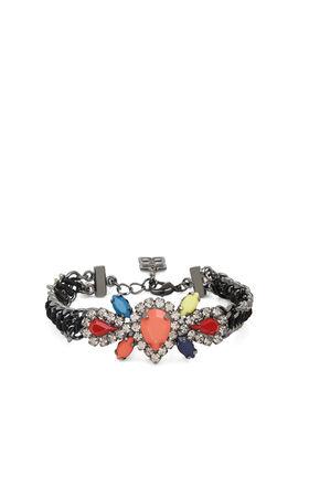 Boho Tribal Jeweled Woven-Chain Bracelet