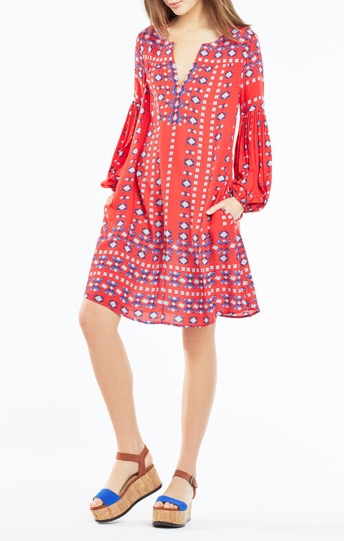 Omari Deco Square Print Dress
