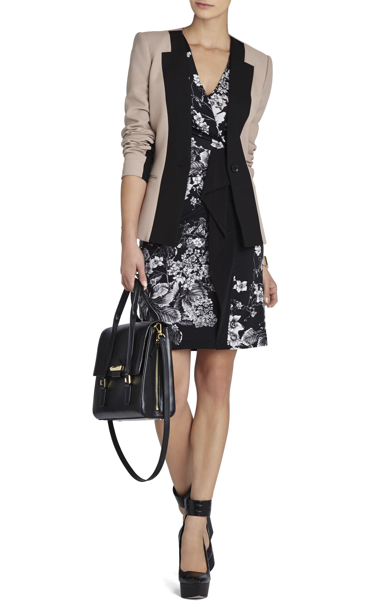 Laudy Side-Ruffle Wrap Dress