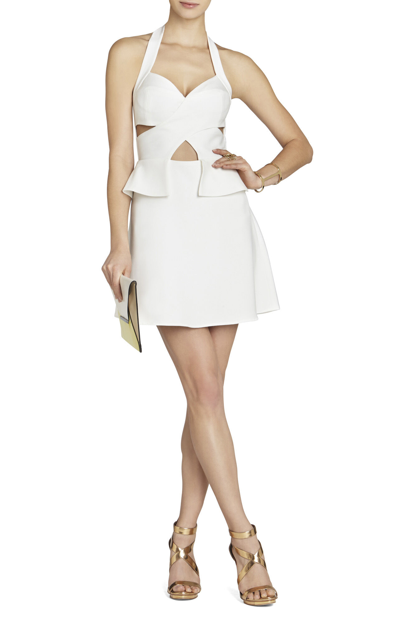 Denisa Cutout Halter Dress