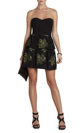 Tia Embroidered Peplum Dress