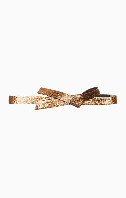 Metallic Knotted Waist Belt
