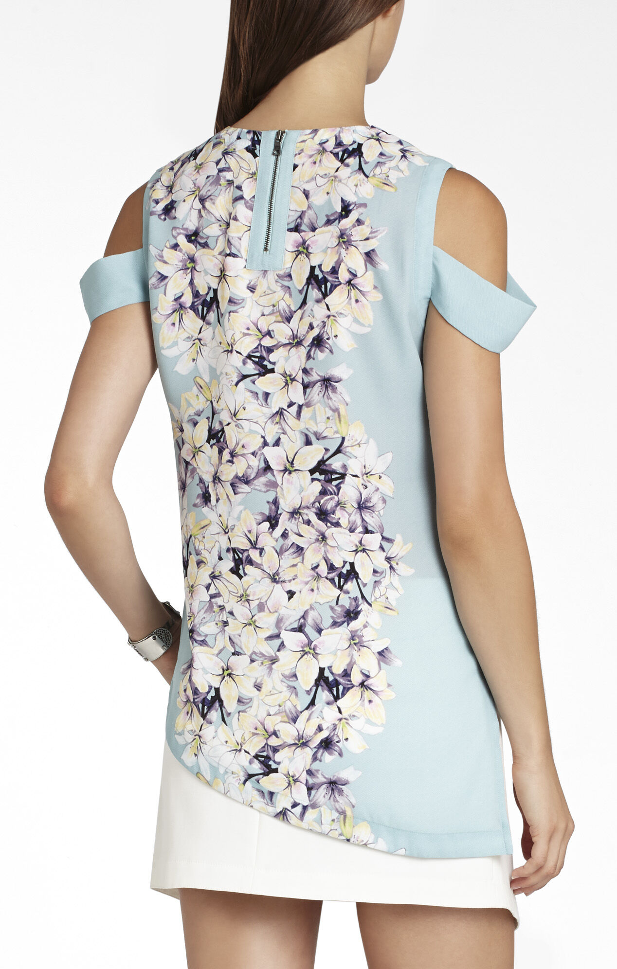 Alecia Sleeveless Asymmetrical-Hem Top