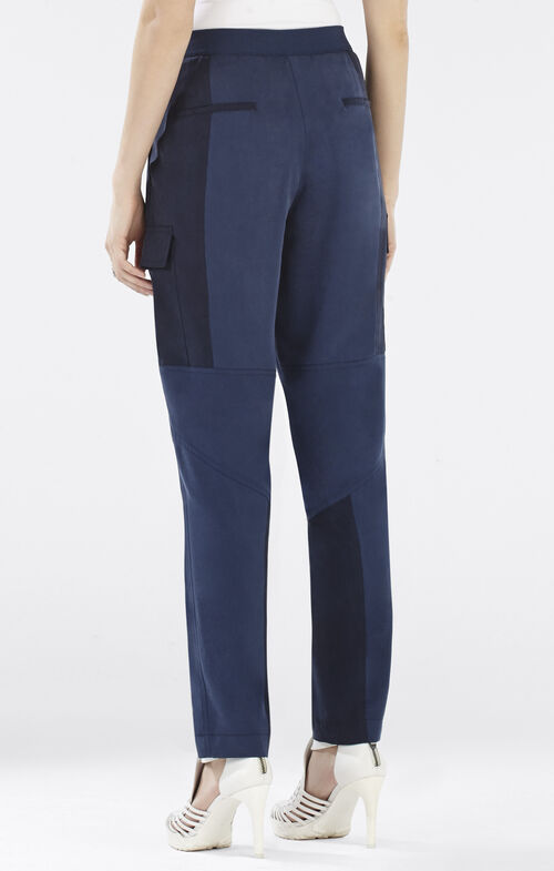 Neal Contrast Moto Pant