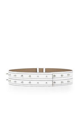 Collar-Studded Waist Belt