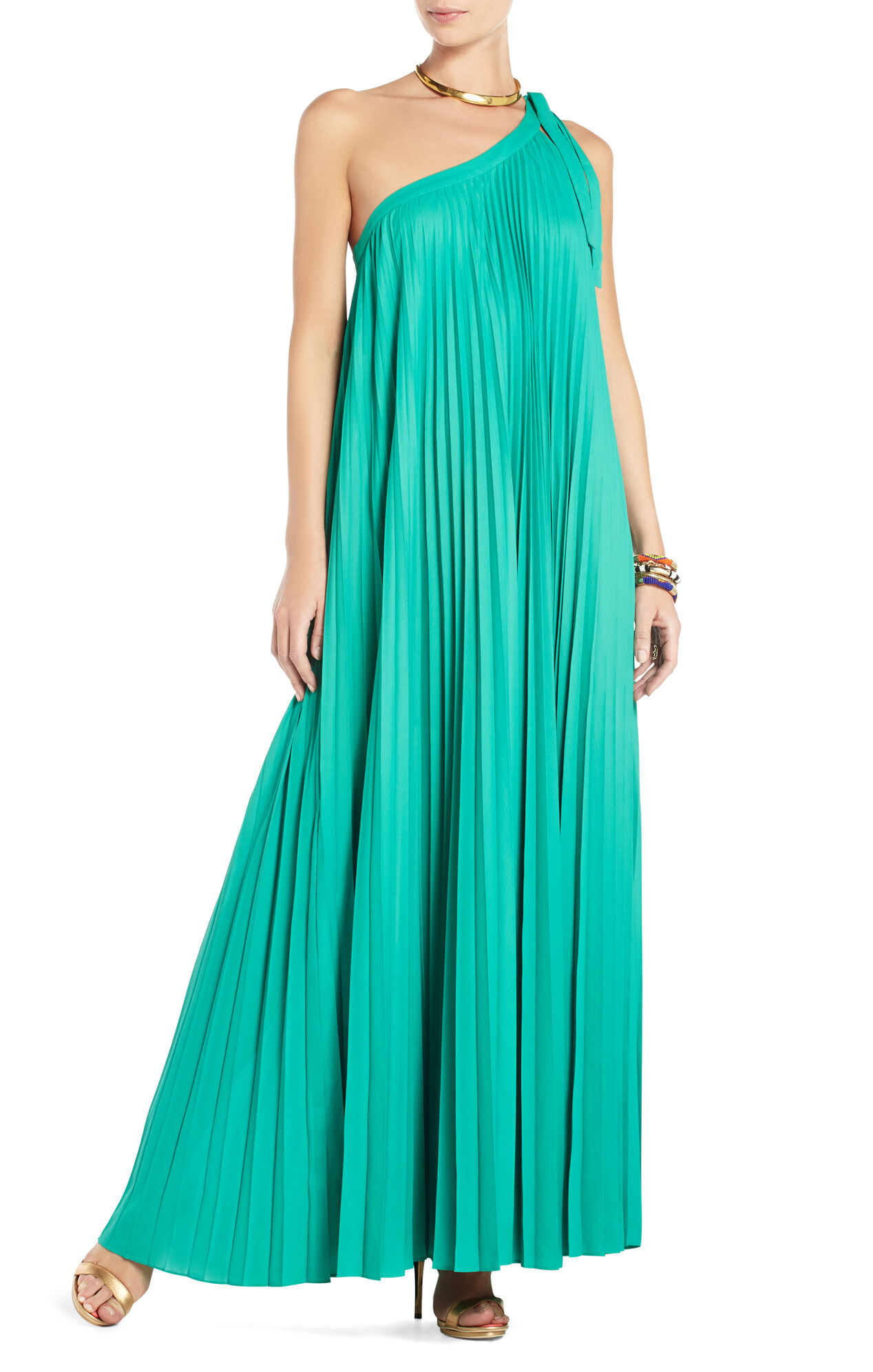 Abee Pleated Maxi Dress