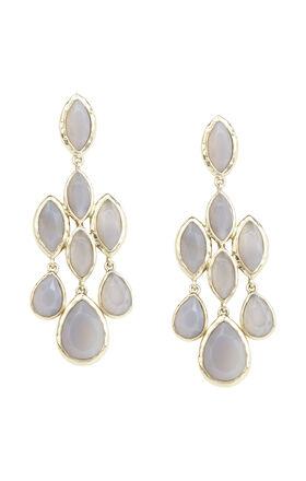 Natural-Stone Cascade Earrings