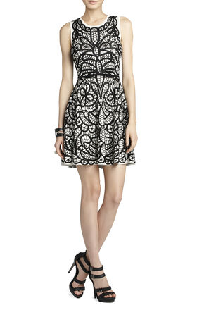 Talulah Pleated Jacquard Dress