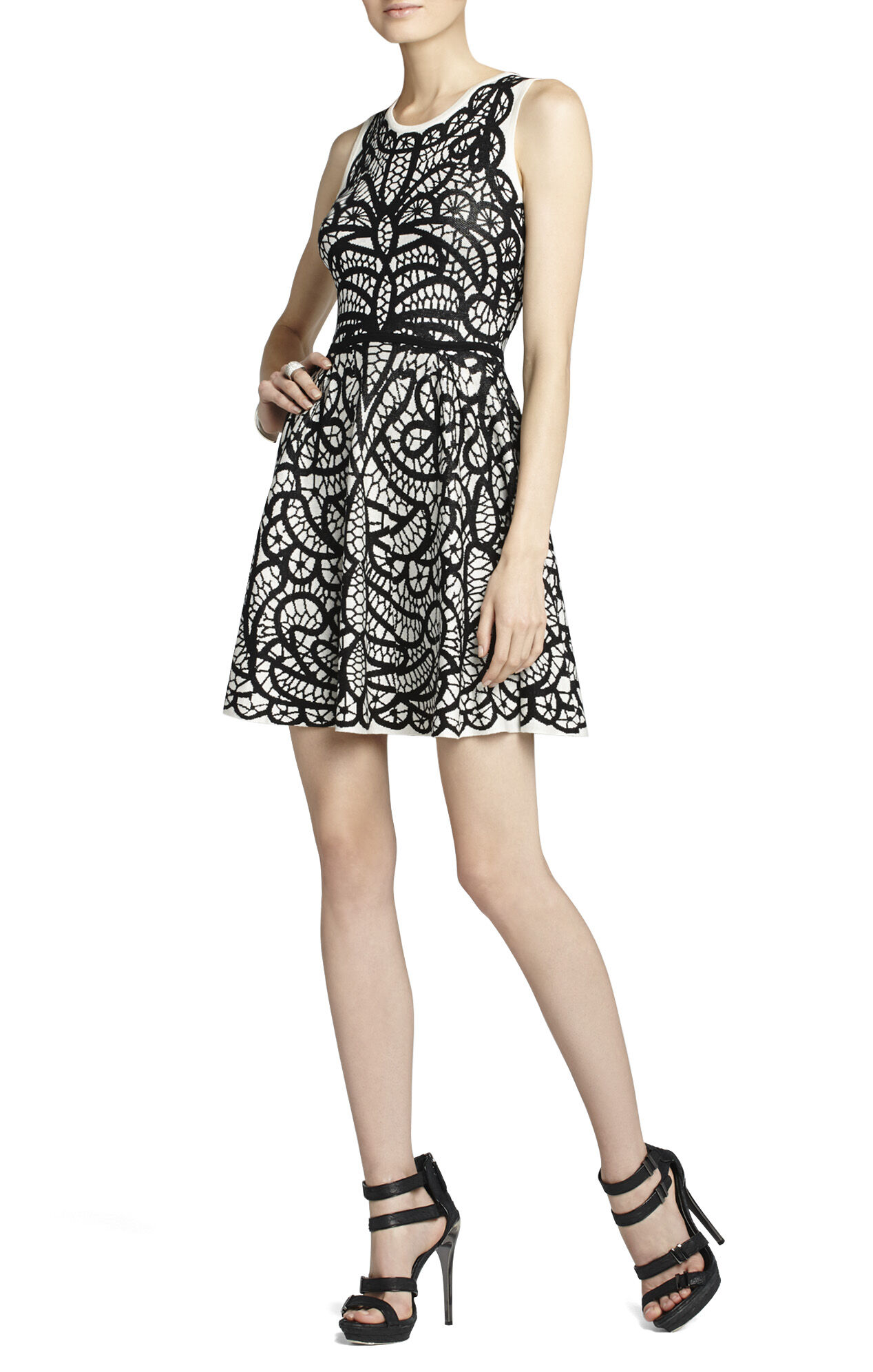 Talulah Pleated Jacquard Dress