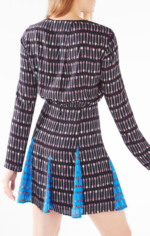 Amabel Cupid Stripe Print-Blocked Dress