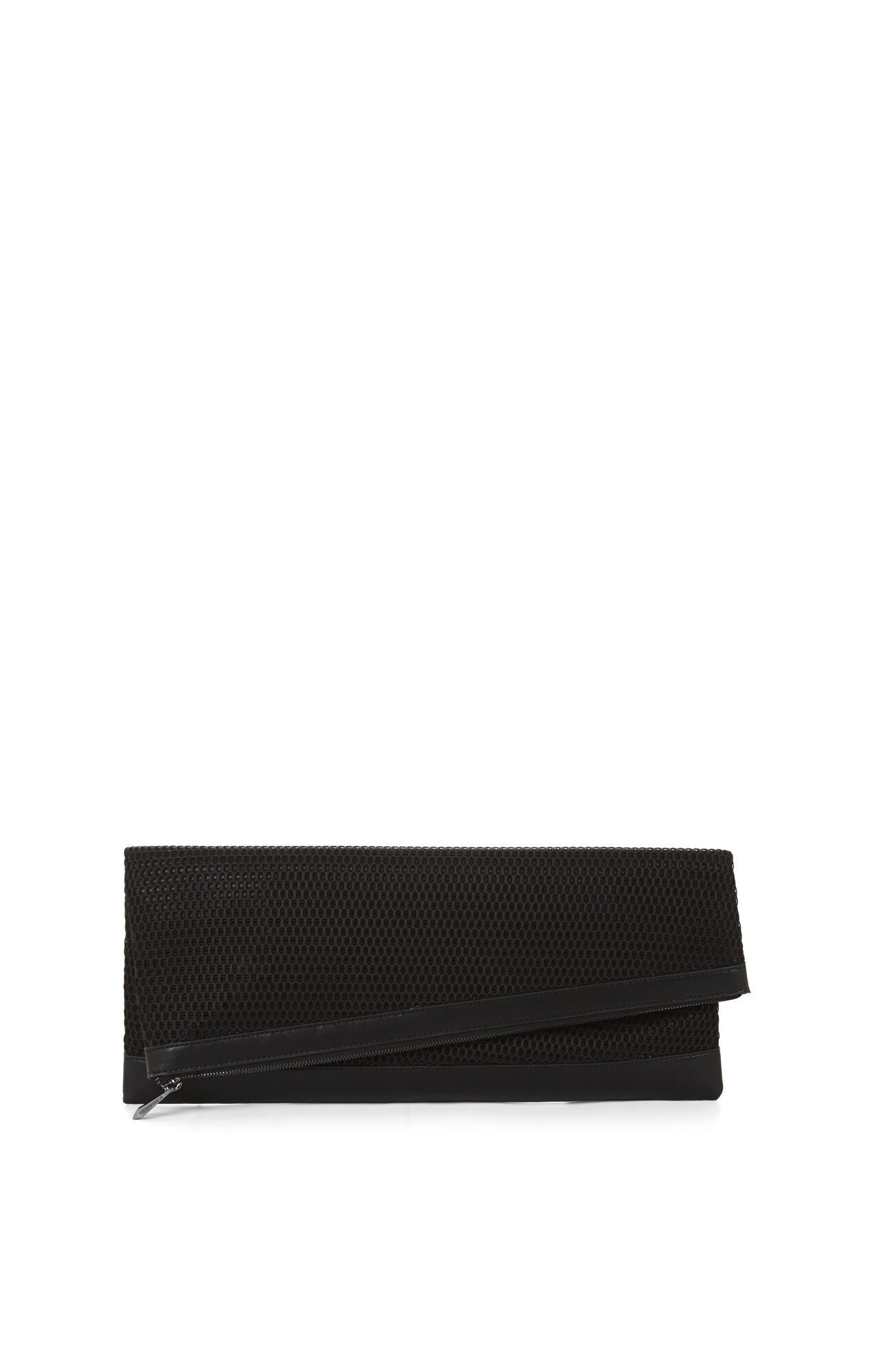 Riely Mesh Foldover Clutch