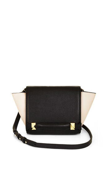 Grace Color-Blocked Mini Leather Cross-Body