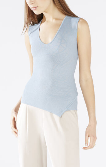 Cassie Sleeveless Jacquard Top