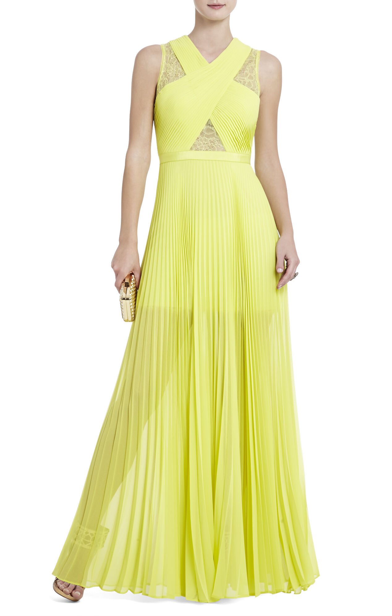 Caia Chiffon-Pleated Gown