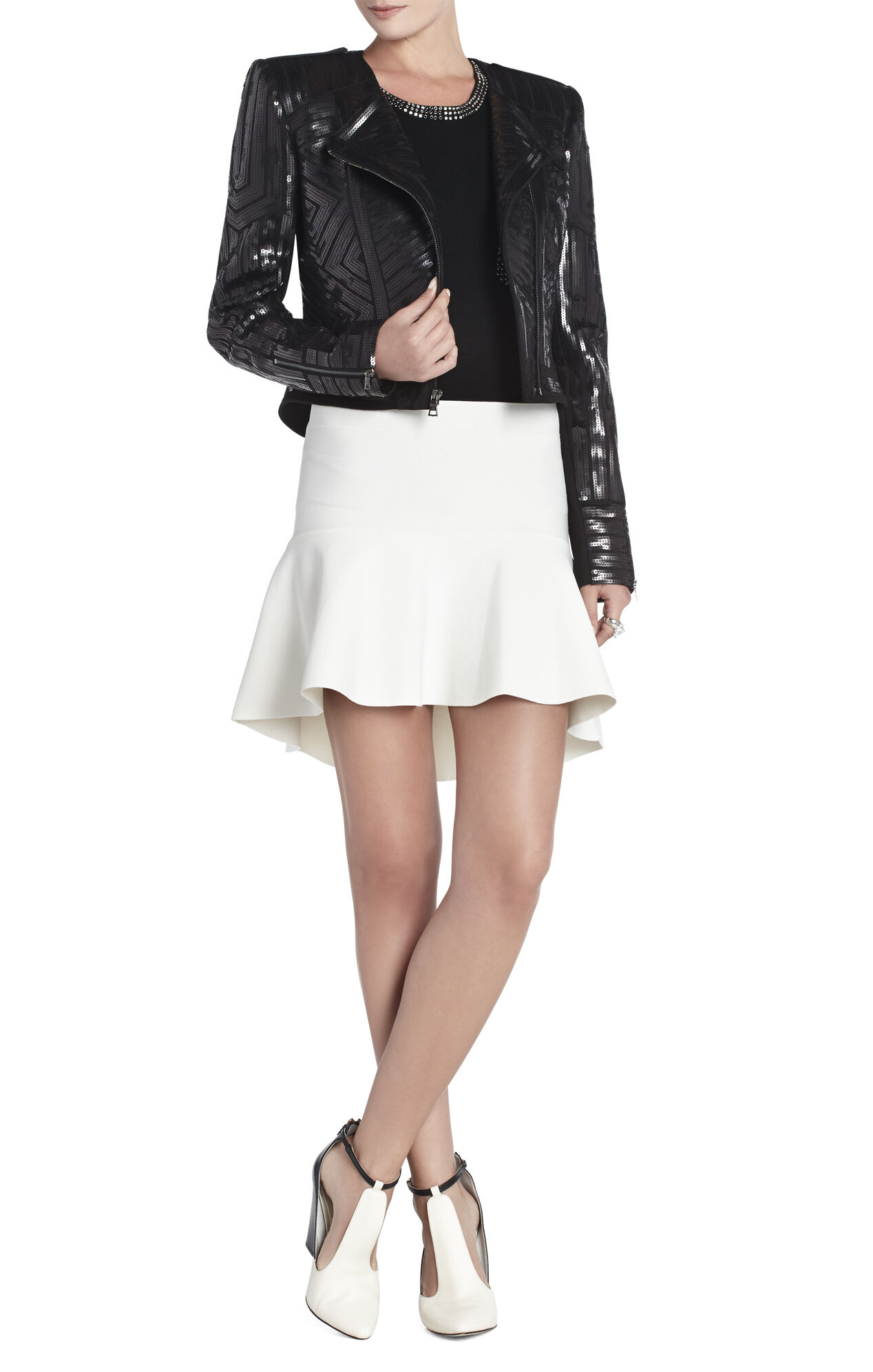 Suvi Geo Sequin Moto Jacket