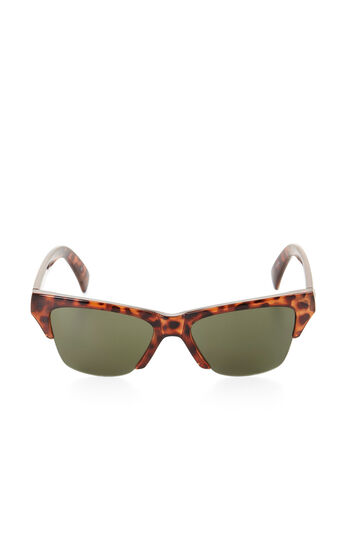 Small Cutoff Cat-Eye Sunglasses