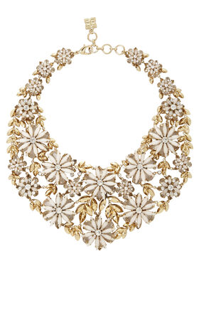 Layered Floral-Stone Necklace