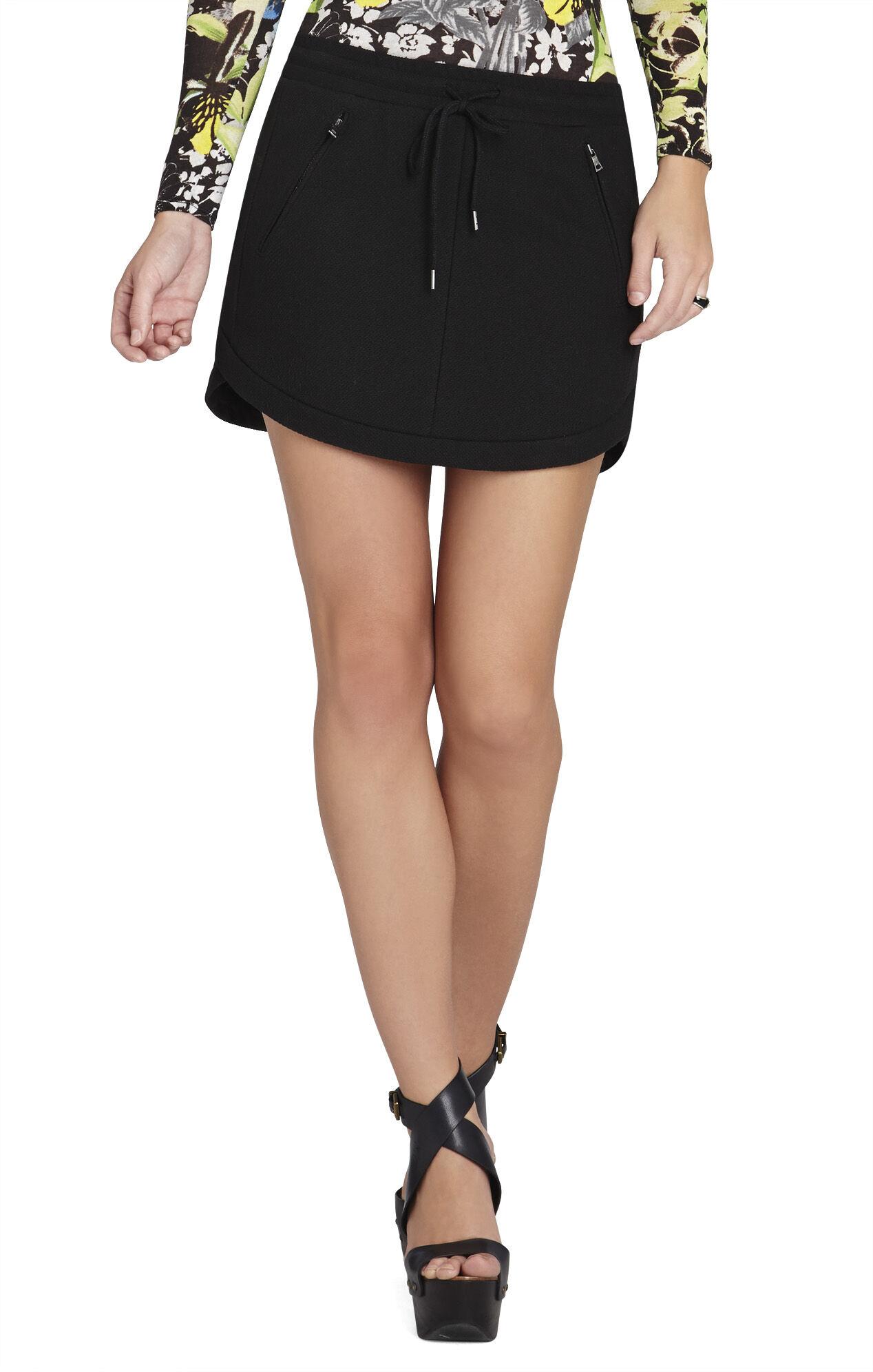 Ruby Drawstring Miniskirt