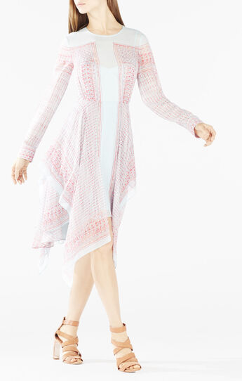 Briget Printed Handkerchief Dress