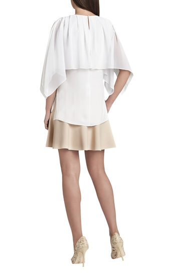 Jeanne Pleated Chiffon Overlay Top