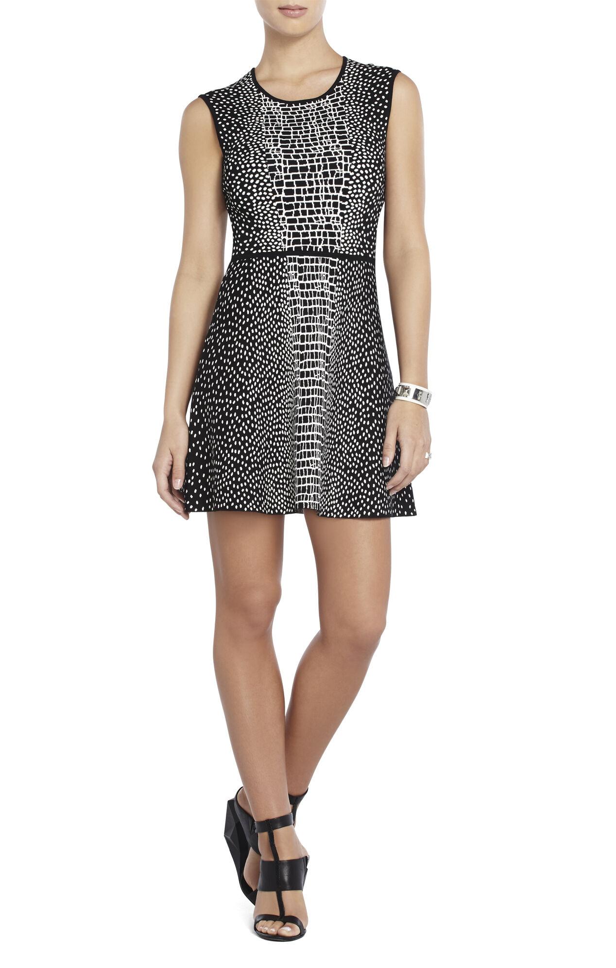 Dina Croc-Jacquard Dress
