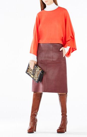 Lyndsey Kimono-Sleeve Cropped Sweater