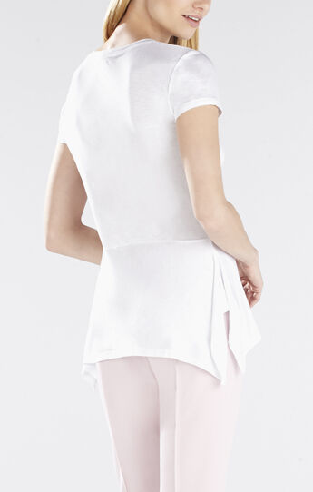 Ilene Short-Sleeve Drop Waist Peplum Top