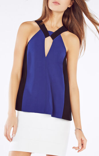 Sofya Cutout Halter Top