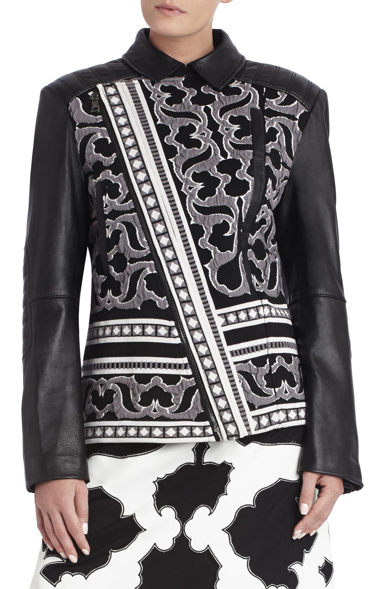 Runway Timona Jacquard Leather Jacket