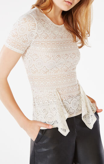 Karine Lace Peplum Top