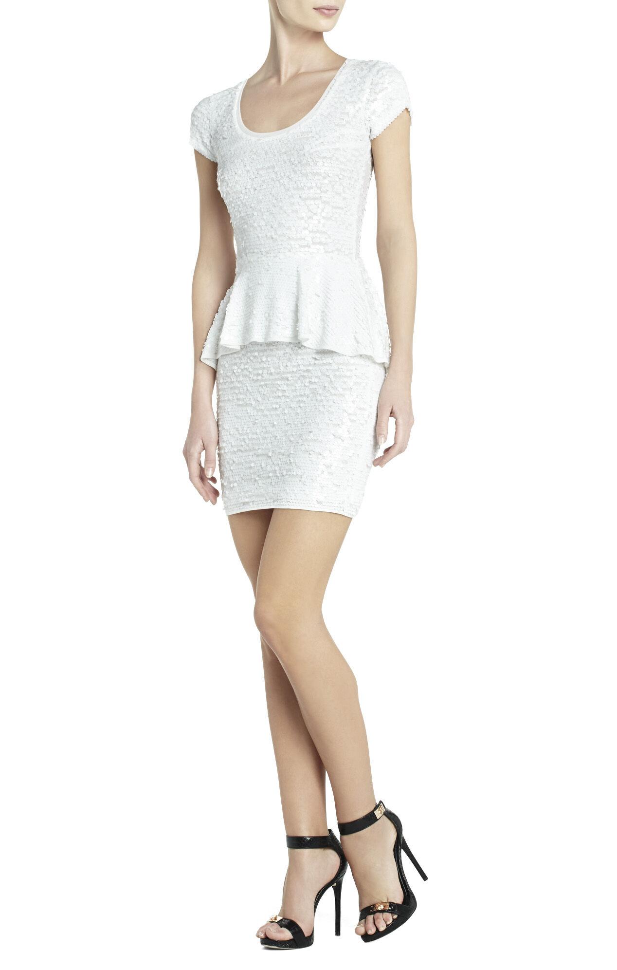 Elora Sequin Peplum Dress