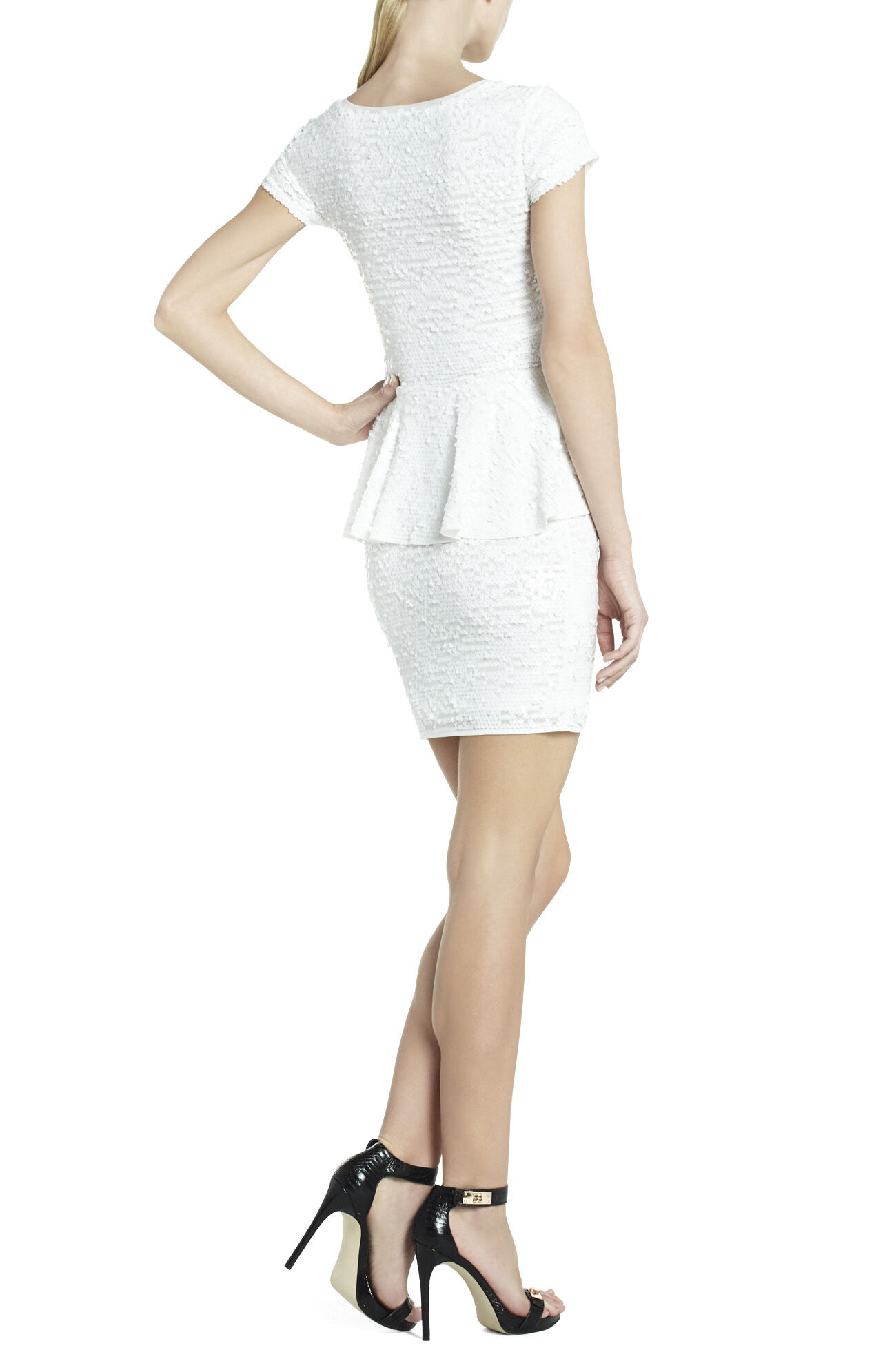 Elora Sequin Peplum Dress
