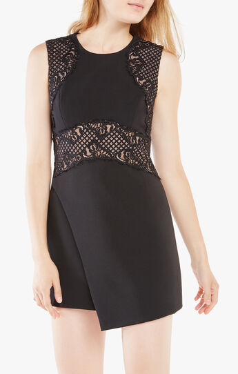 Leandra Lace-Blocked Dress