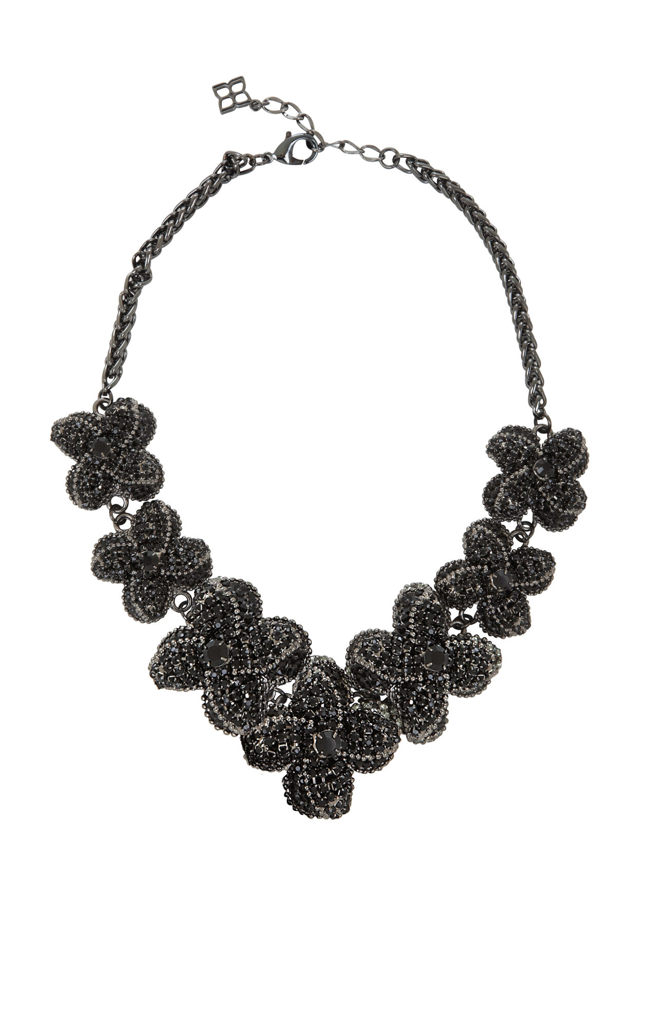 Pave Floral Necklace