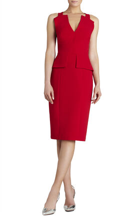 Alena Knee-Length Peplum Dress