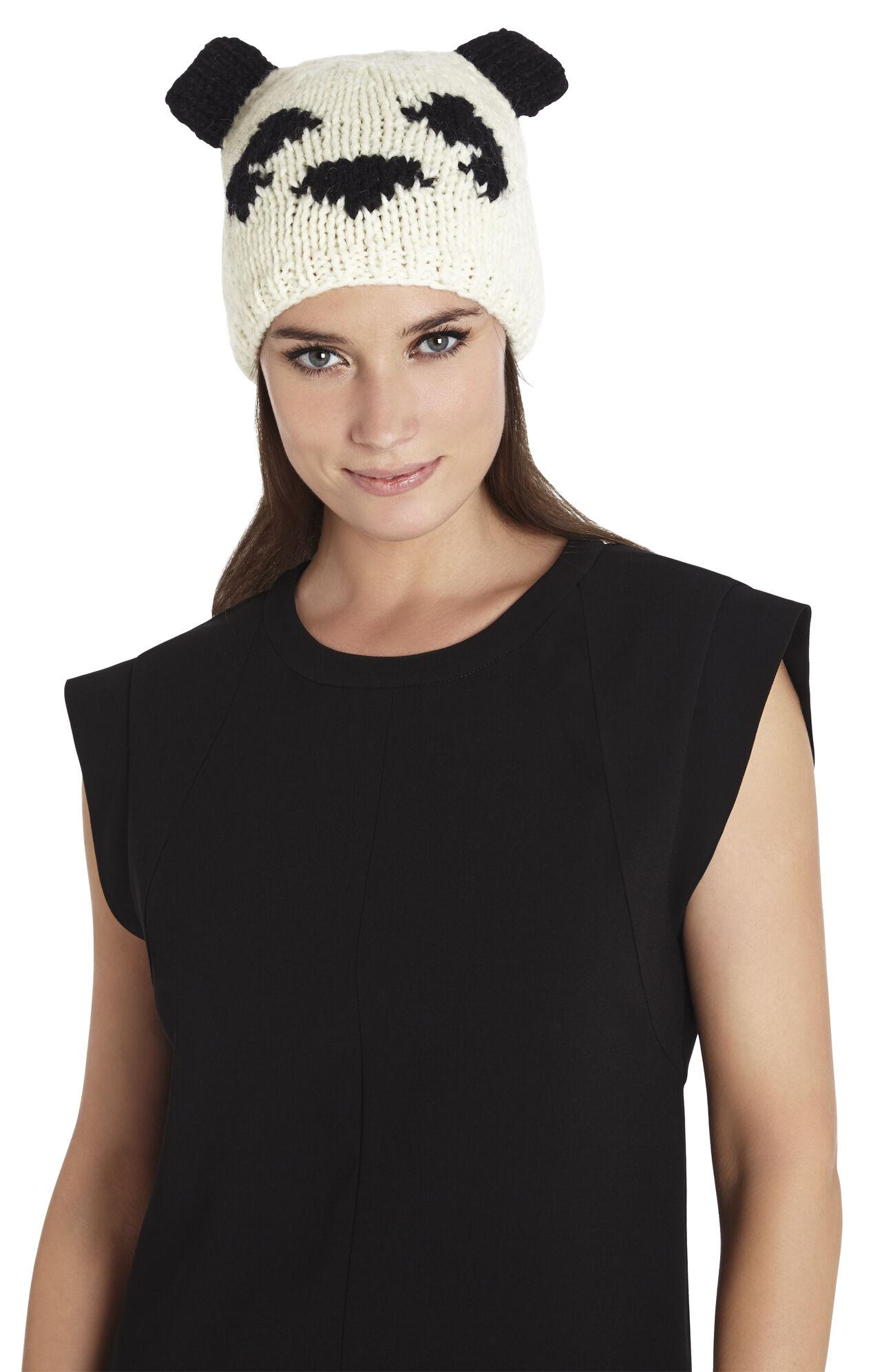 Intarsia Panda Hat