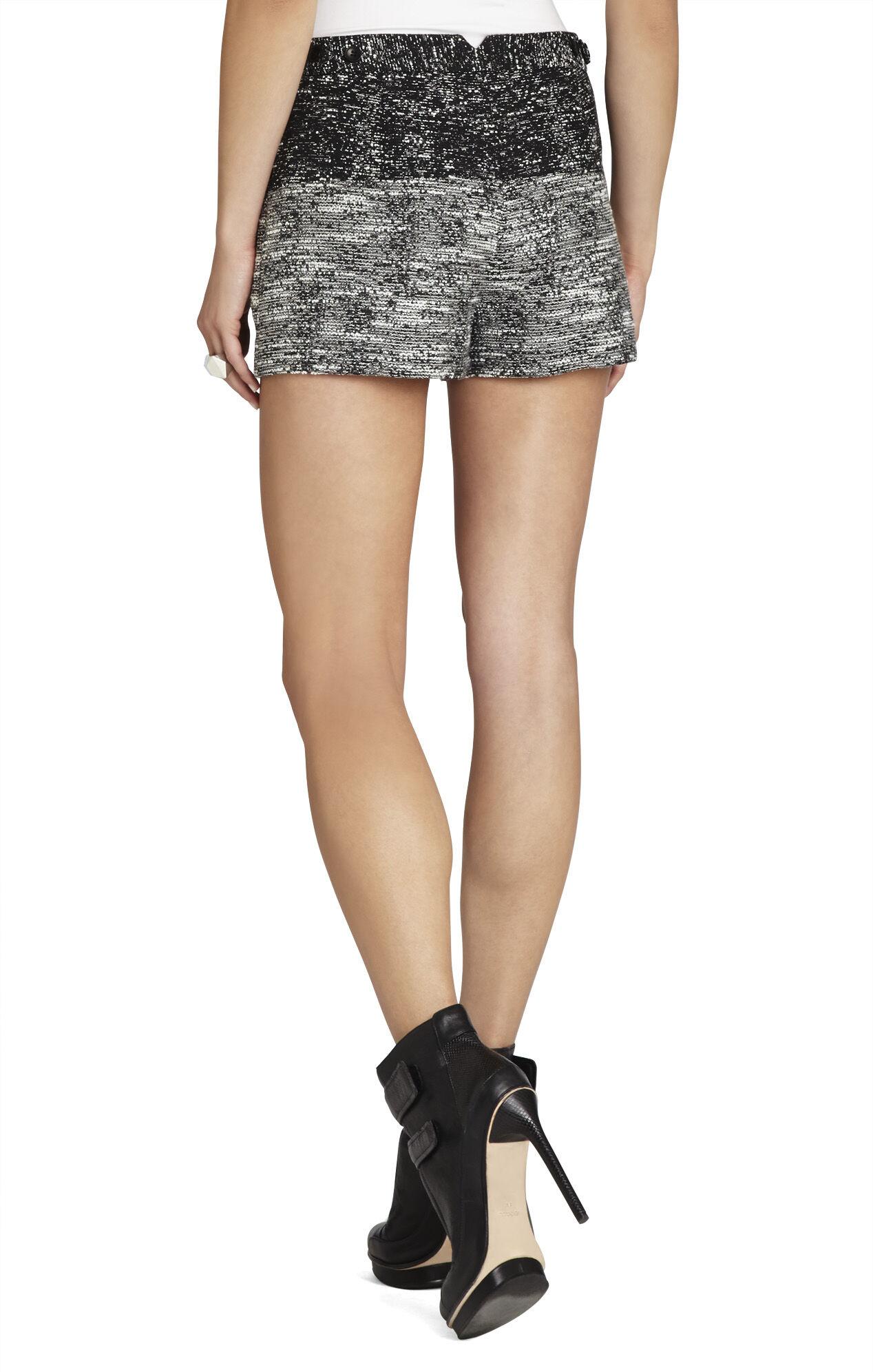 Bruna Blocked Tweed Shorts