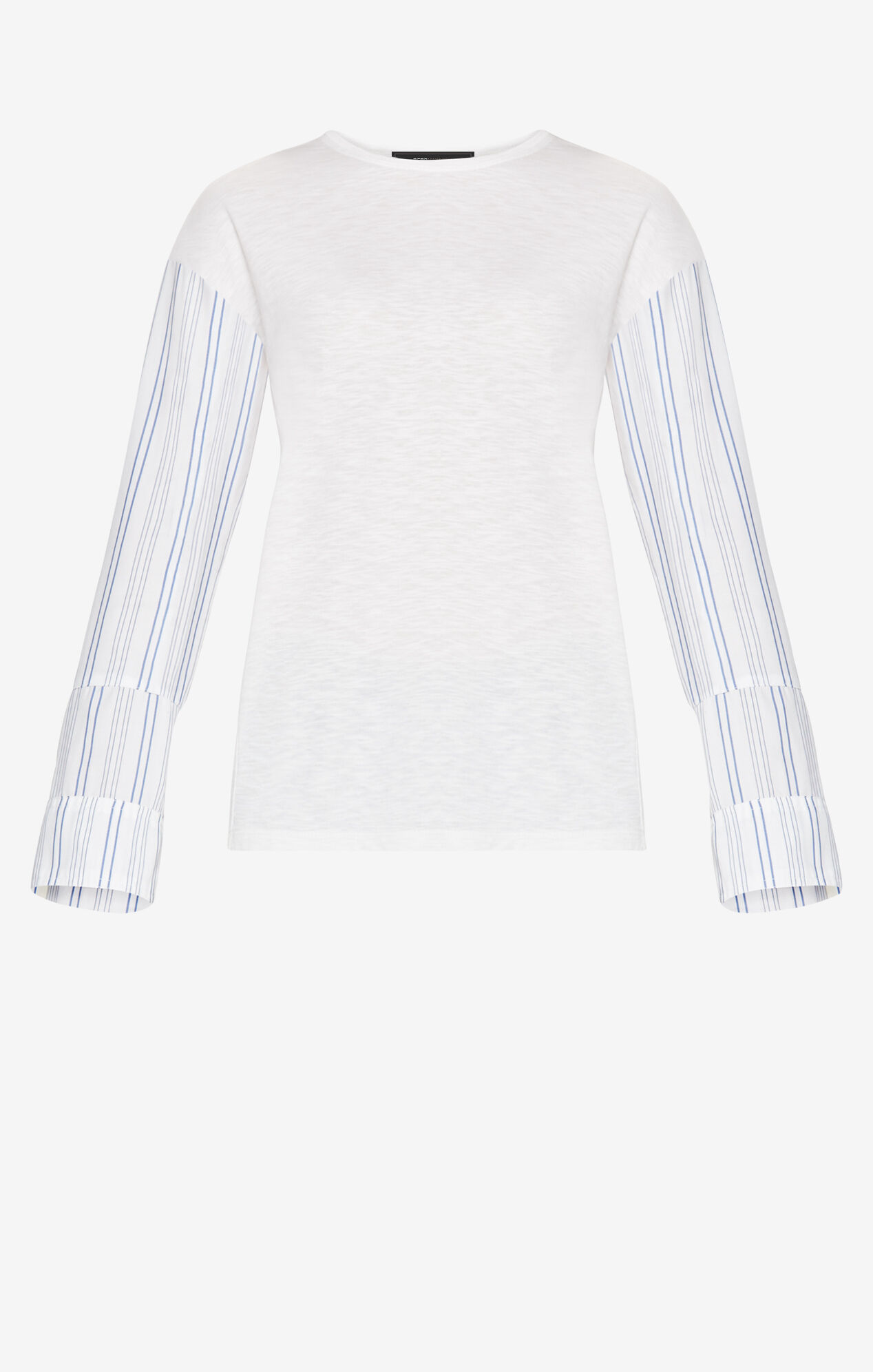 Glenys Striped-Sleeve Top