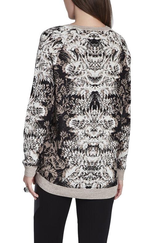 Parker Etched Floral Jacquard Sweatshirt
