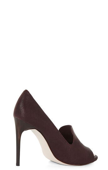 Peep-Toe Loafer Pump