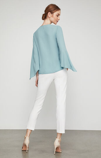 Nickclette Handkerchief-Sleeve Wrap Top