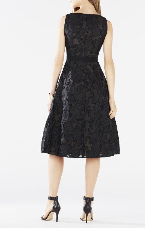 Christie Burnout Floral Jacquard Dress