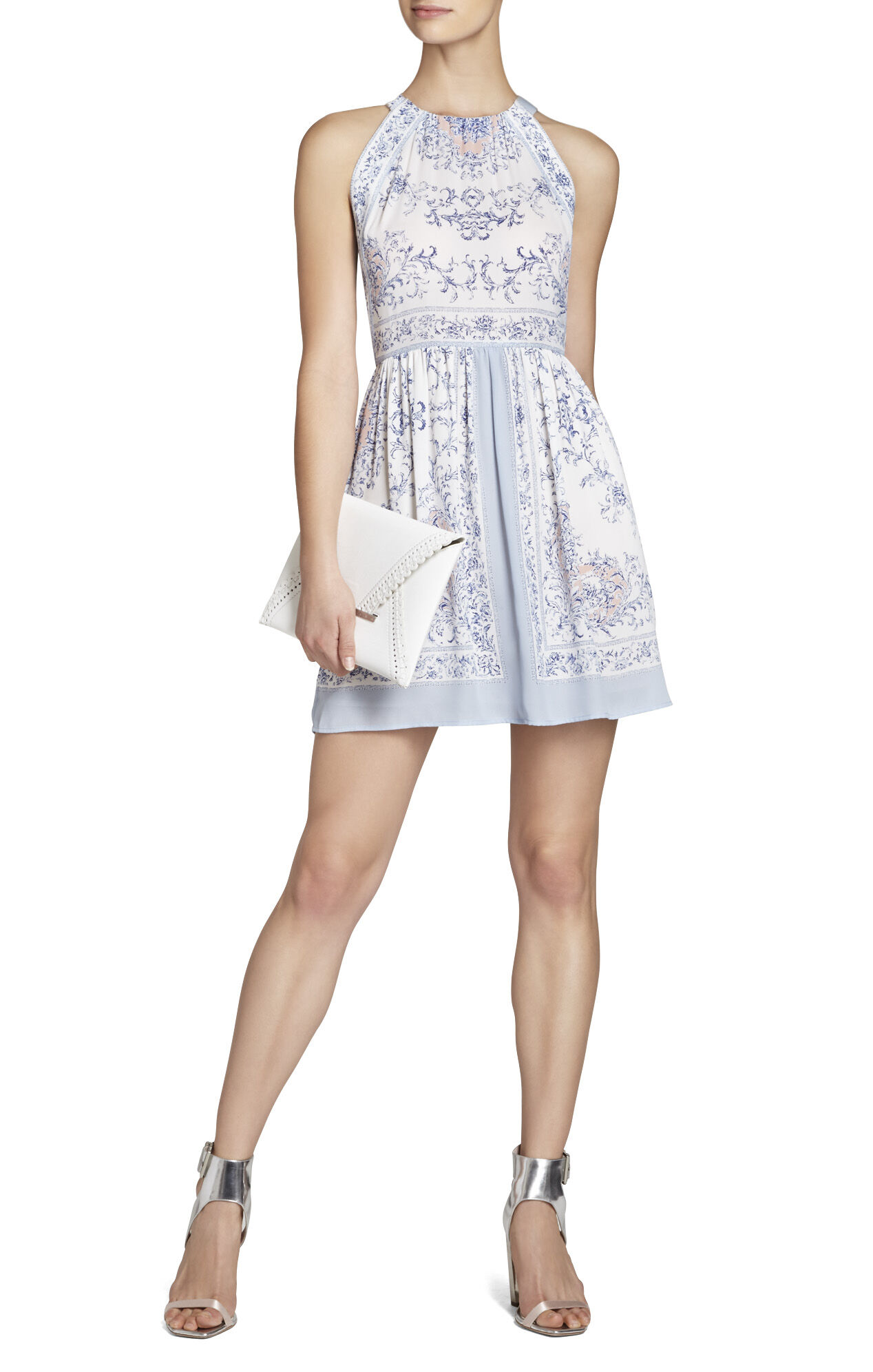 Cambria Printed Halter Dress