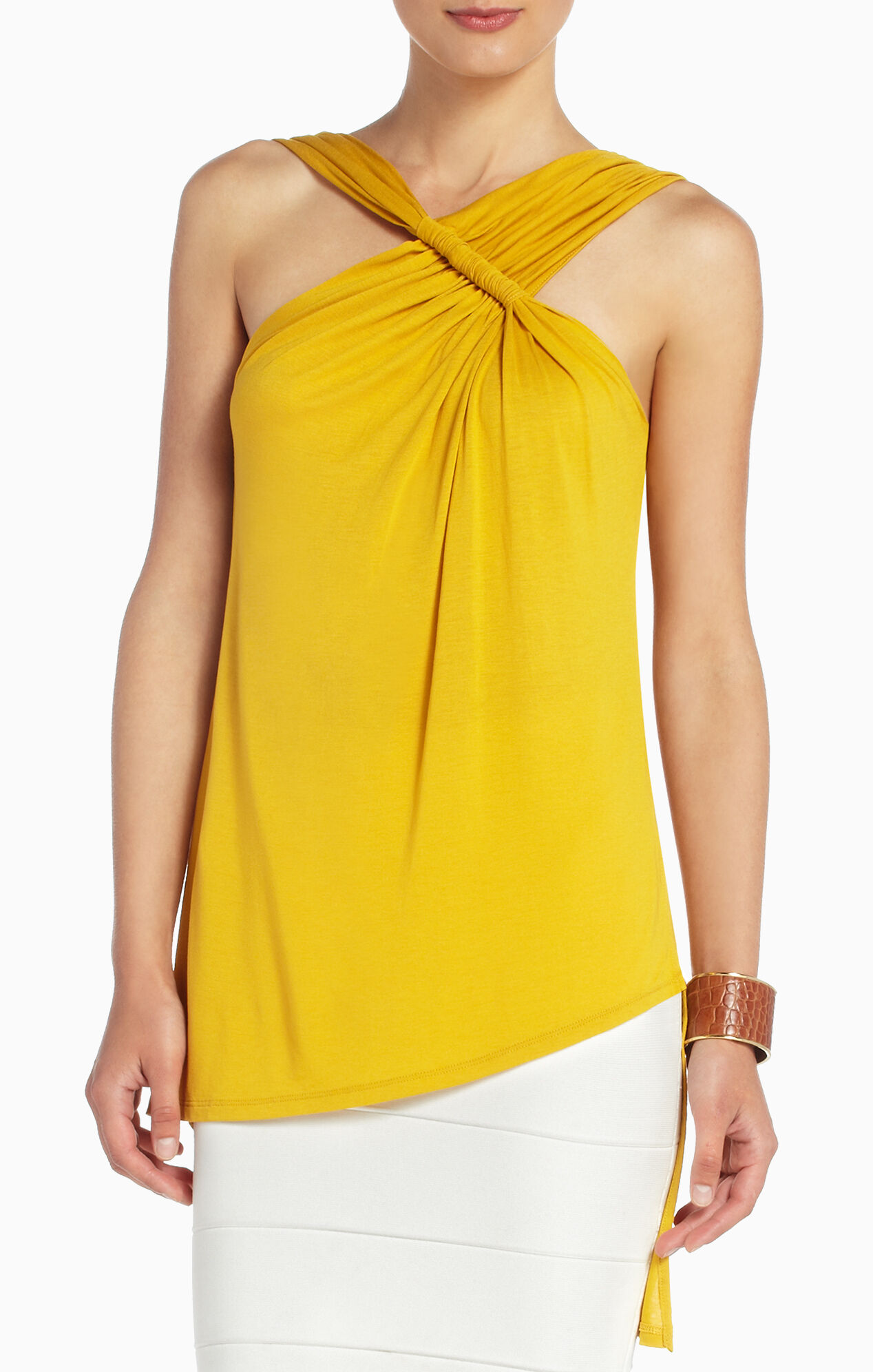 Roslin Draped Asymmetrical Top