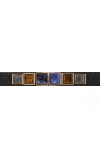 Natural Stone Faux Leather Waist Belt