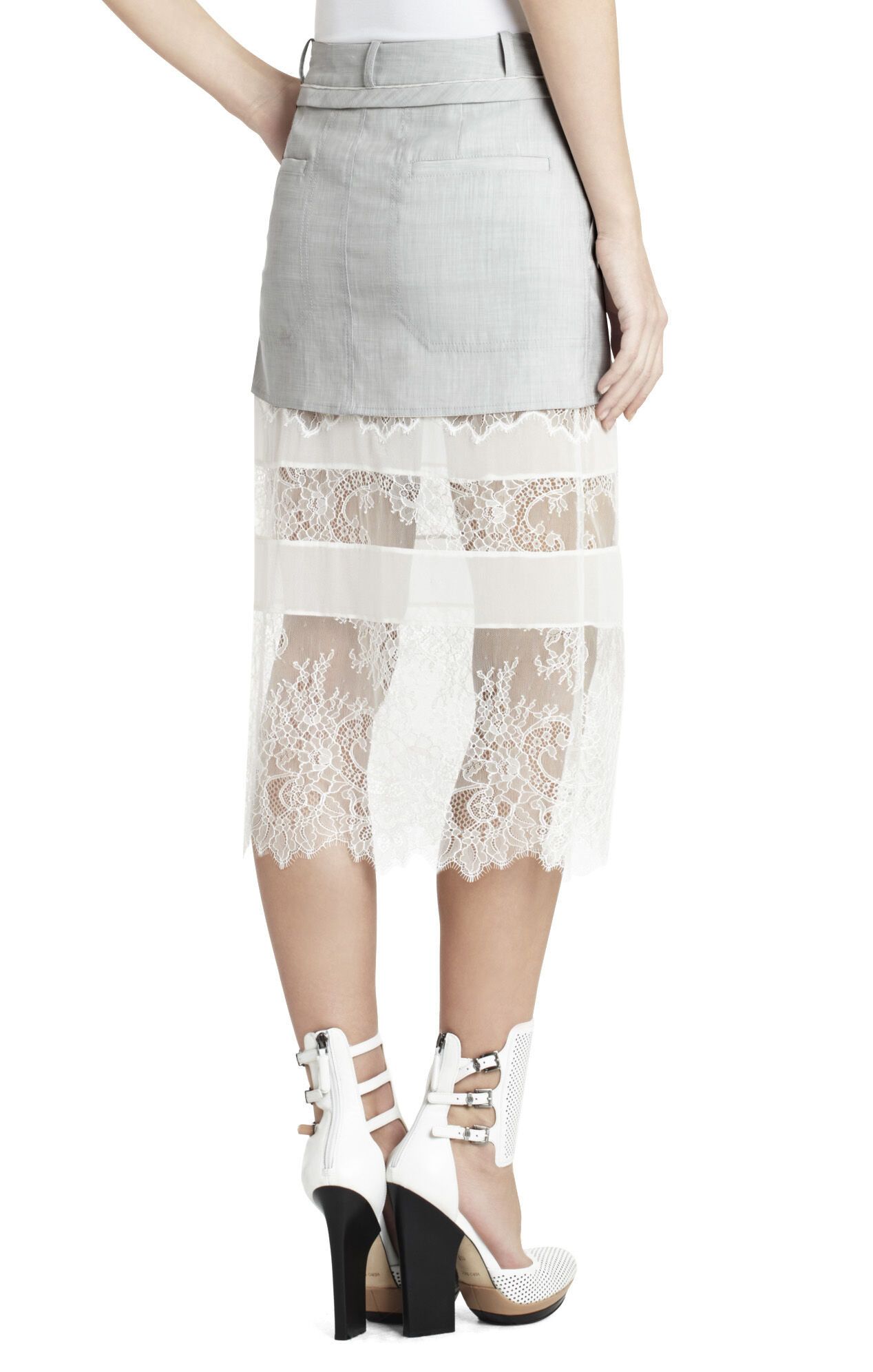 Runway Thalia Lace Skirt With Pockets