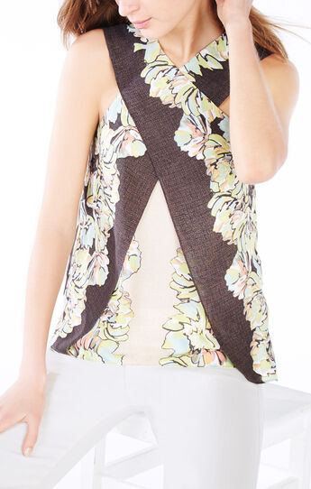 Maryssa Floral Print Halter Top