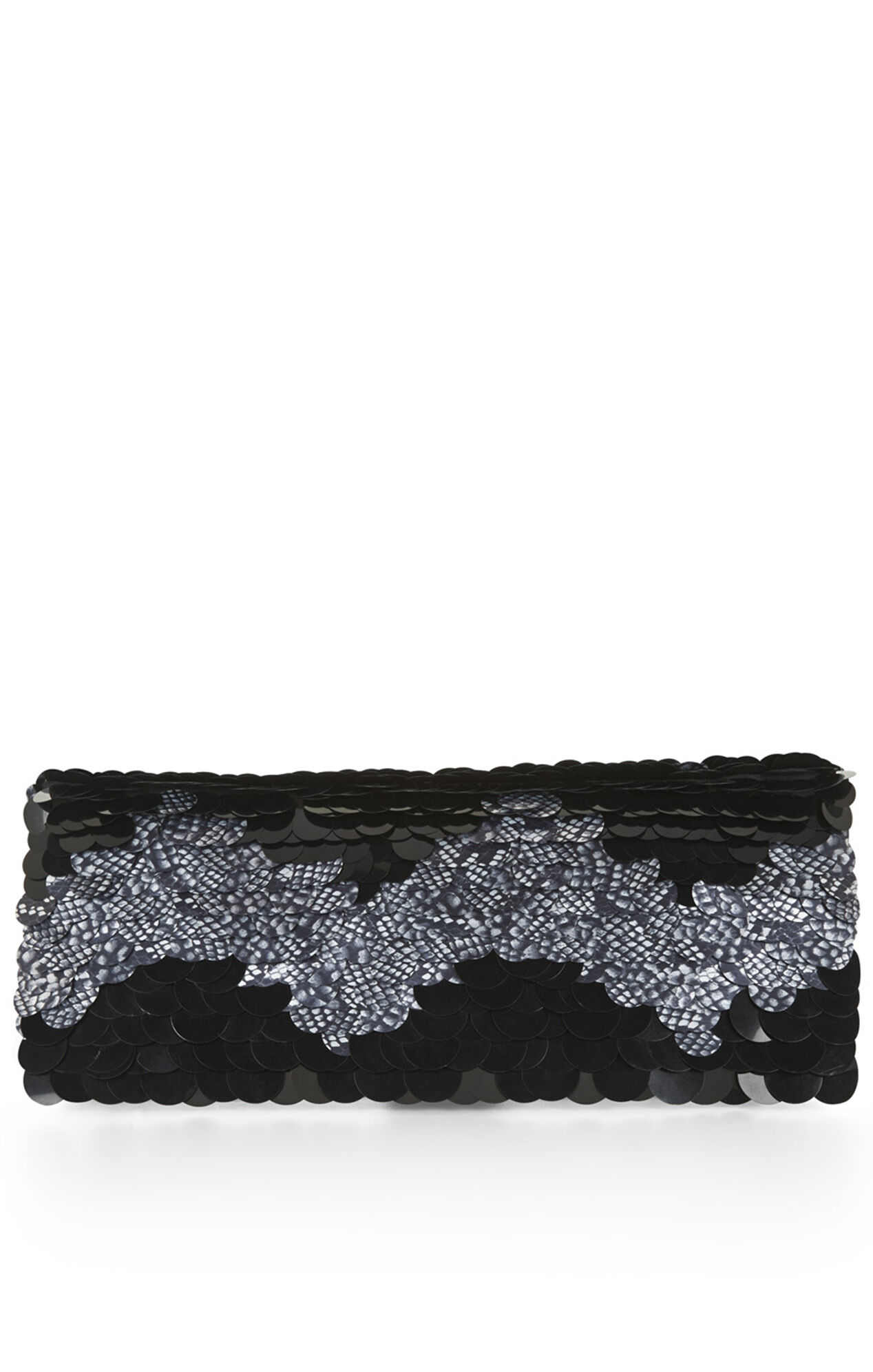 Amelie Chevron Paillettes Clutch